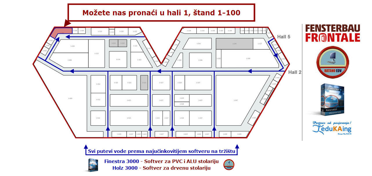 Softver za PVC, ALU i drvenu stolariju Finestra 3000 Fensterbau Frontale 2016